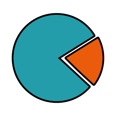 Ilustración de pie chart icon over white background vector illustration - Imagen libre de derechos