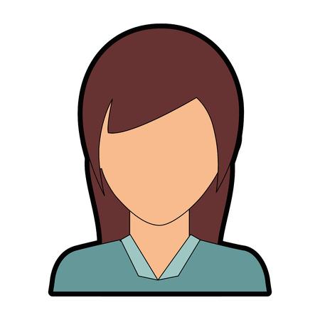Ilustración de businesswoman icon over white background vector illustration - Imagen libre de derechos