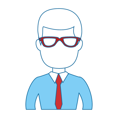 Ilustración de businessman icon over white background colorful design vector illustration - Imagen libre de derechos