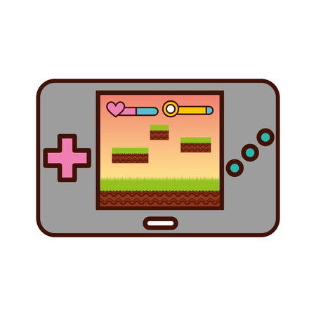 Illustration pour Portable video game console vector illustration design - image libre de droit