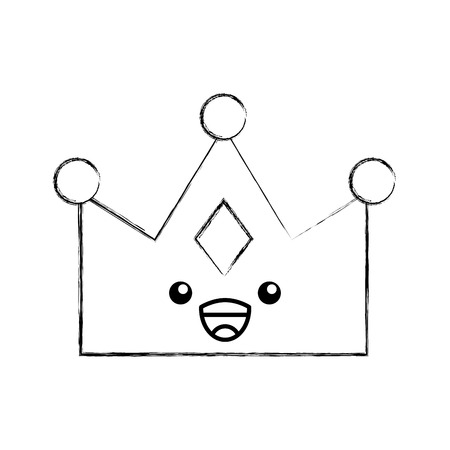 Illustration for queen crown isolated character vector illustration design - Royalty Free Image