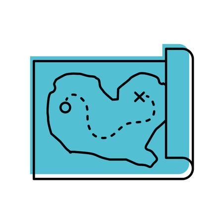 Ilustración de treasure map game icon vector illustration design - Imagen libre de derechos