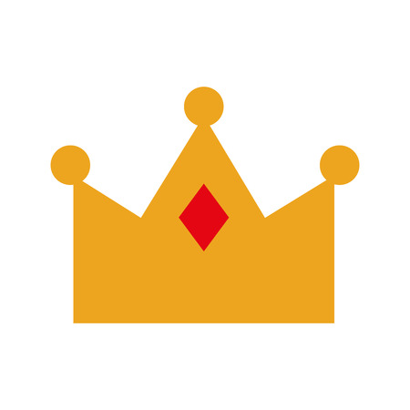 Illustration for queen crown isolated icon vector illustration design - Royalty Free Image