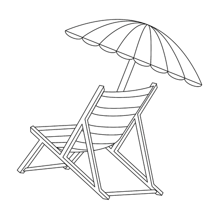 Photo for isolated beach chair icon vector illustration graphic design - Royalty Free Image