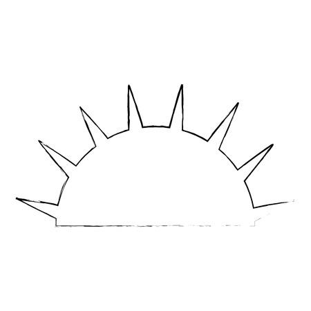 Ilustración de isolated half sun icon vector illustration graphic design - Imagen libre de derechos