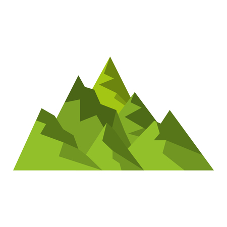 Illustration pour big mountains isolated icon vector illustration design - image libre de droit