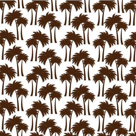 Illustration pour tree palms pattern background vector illustration design - image libre de droit