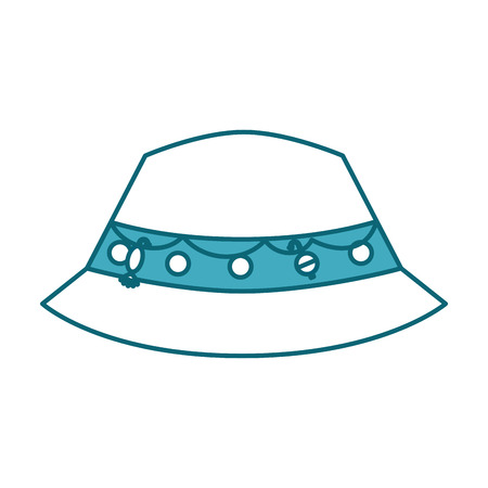 Ilustración de fisher hat isolated icon vector illustration design - Imagen libre de derechos