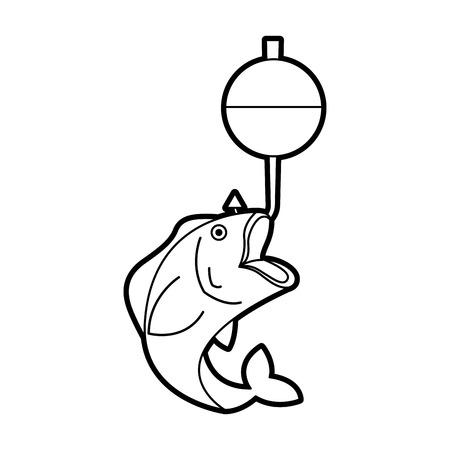 Ilustración de fish hook isolated icon vector illustration design - Imagen libre de derechos