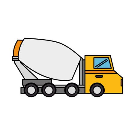 Illustration pour concrete mixer truck icon vector illustration design - image libre de droit