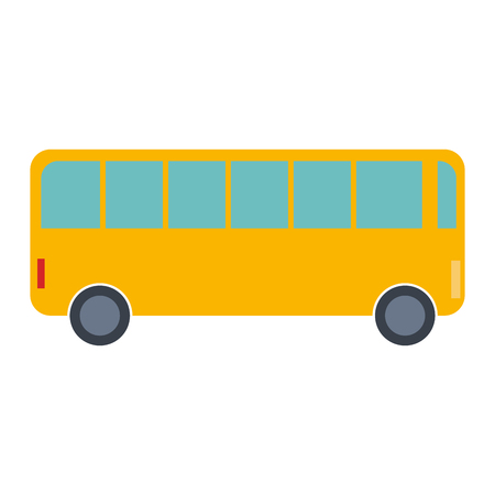 Illustration pour bus vehicle isolated icon vector illustration design - image libre de droit