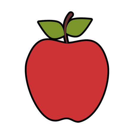 Ilustración de Apple fruit icon over white background vector illustration - Imagen libre de derechos