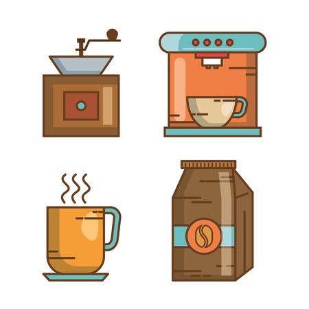 Illustration pour over white background drink vector illustration icon - image libre de droit