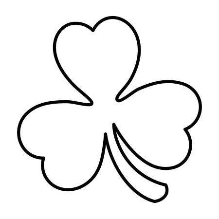Ilustración de saint patrick clover icon vector illustration design - Imagen libre de derechos