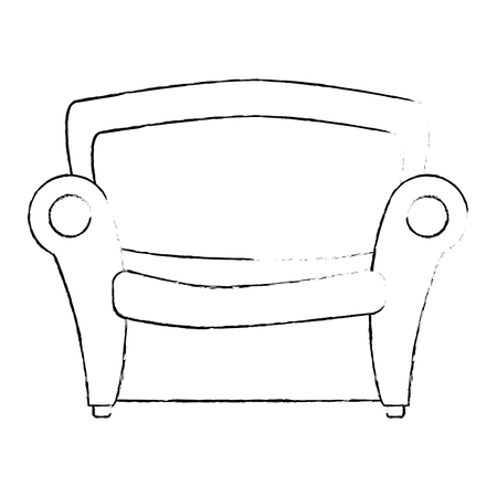 Illustration pour couch seat furniture - image libre de droit
