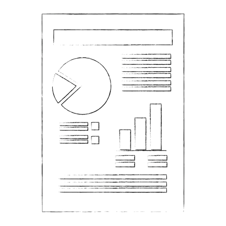 Ilustración de document with Statistical graphs - Imagen libre de derechos