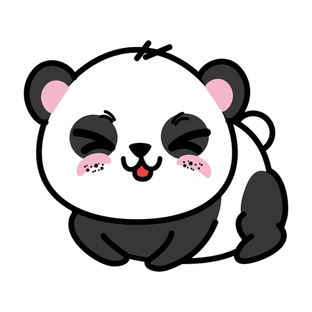 Illustration pour isolated cute panda bear icon vector illustration graphic design - image libre de droit