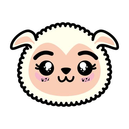 Ilustración de Isolated cute sheep face icon illustration graphic design. - Imagen libre de derechos