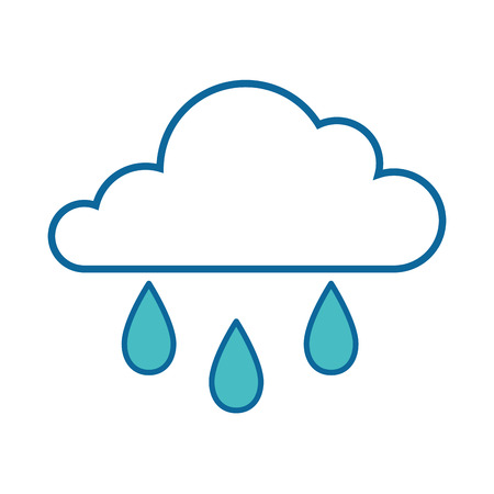 Ilustración de isolated rain cloud icon vector illustration graphic design - Imagen libre de derechos