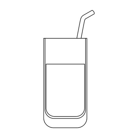 Ilustración de isolated juice glass icon vector illustration graphic design - Imagen libre de derechos