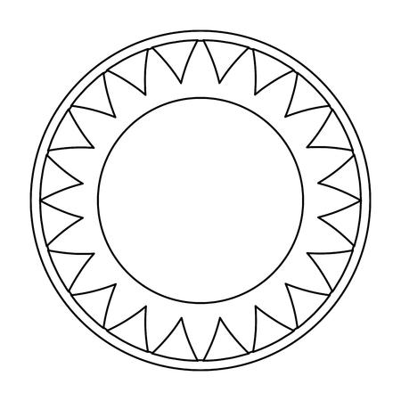 Ilustración de isolated big sun symbol icon vector illustration graphic design - Imagen libre de derechos