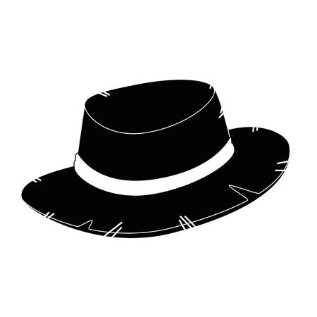 Ilustración de isolated farmer hat icon vector illustration graphic design - Imagen libre de derechos