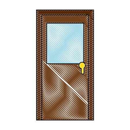 Illustration for Big door icon - Royalty Free Image