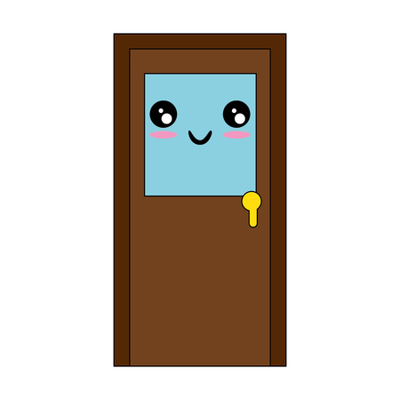 Illustration for isolated big door icon vector illustration graphic design - Royalty Free Image