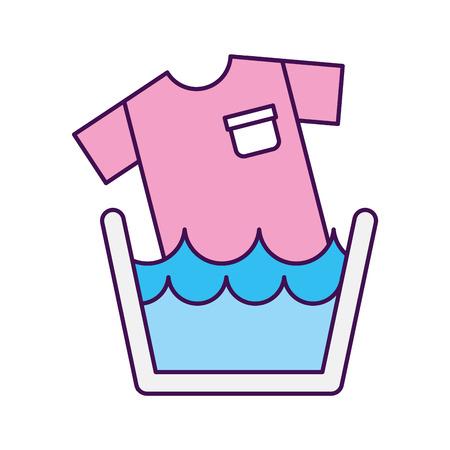 Illustration pour Laundry garments washing icon vector illustration design - image libre de droit