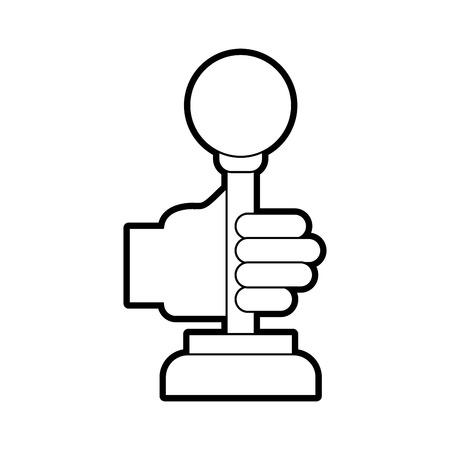 Illustration pour hands with video game control icon vector illustration design - image libre de droit