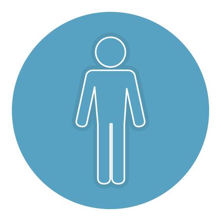 Illustration pour man silhouette isolated icon vector illustration design - image libre de droit