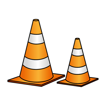 Illustration for construction cone isolated icon vector illustration design - Royalty Free Image