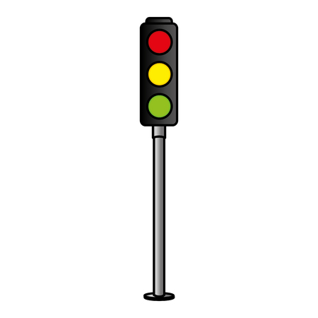 Illustration for traffic light sign icon vector illustration design - Royalty Free Image