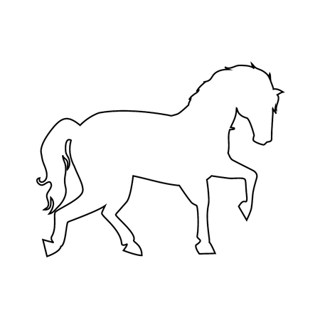 Illustration pour horse icon over white background vector illustration - image libre de droit