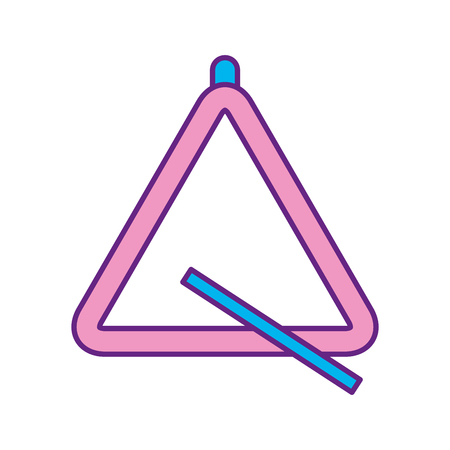 Illustration for triangle instrument musical icon vector illustration design - Royalty Free Image
