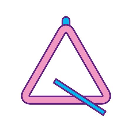 Illustration pour triangle instrument musical icon vector illustration design - image libre de droit