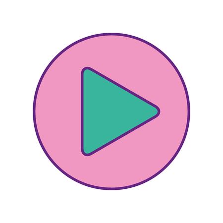 Ilustración de play button isolated icon vector illustration design - Imagen libre de derechos