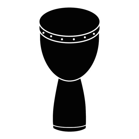 Illustration for African drum music instrument icon vector illustration graphic design - Royalty Free Image