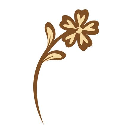 Ilustración de Beautiful flower with petals over white background vector illustration - Imagen libre de derechos