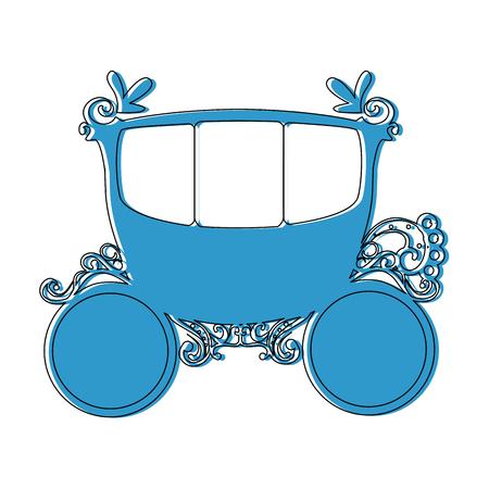 Ilustración de medieval carriage icon over white background vector illustration - Imagen libre de derechos