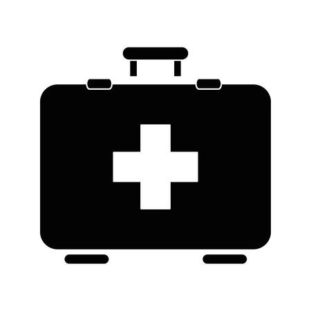 Illustration pour first aid kit icon over white backgroudn vector illustration - image libre de droit