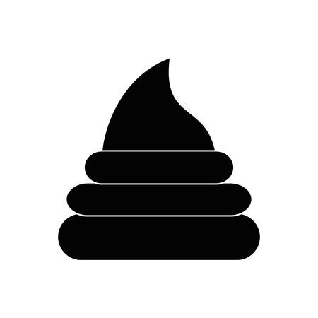 Ilustración de poop icon over white background vector illustration - Imagen libre de derechos