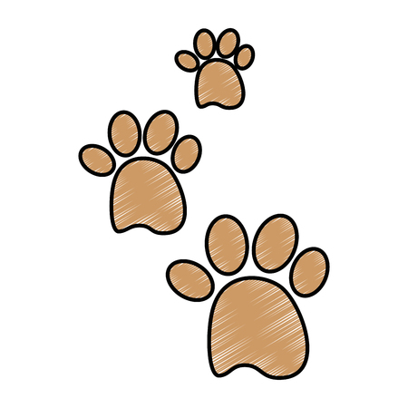 Ilustración de dog footprint icon over white background vector illustration - Imagen libre de derechos