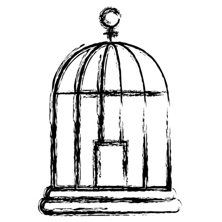 Illustration for cage bird isolated icon vector illustration design - Royalty Free Image