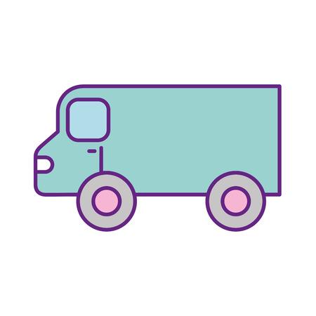 Illustration pour van vehicle isolated icon vector illustration design - image libre de droit
