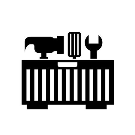 Illustration pour tool box with tools vector illustration design - image libre de droit