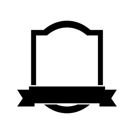 Ilustración de elegant frame with ribbon vector illustration design - Imagen libre de derechos