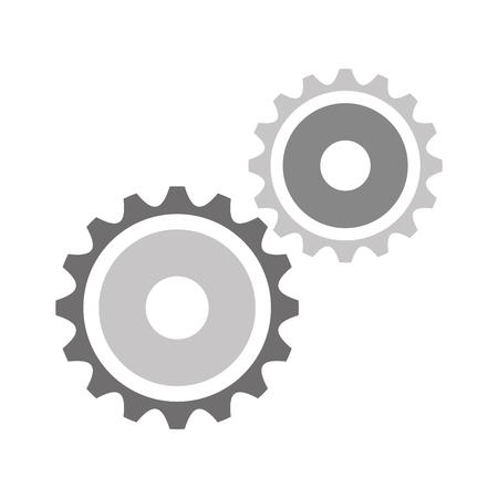 Ilustración de gears machine isolated icon vector illustration design - Imagen libre de derechos