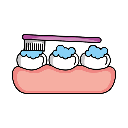 Illustration pour tooth care with toothbrush vector illustration design - image libre de droit