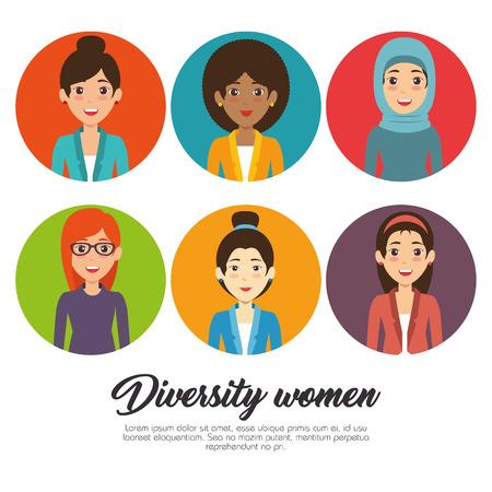 Ilustración de Diversity people concept, infographic vector illustration - Imagen libre de derechos